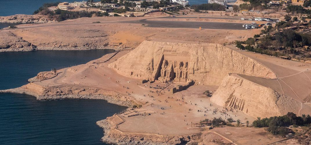 Panoramic view of Abu Simbel