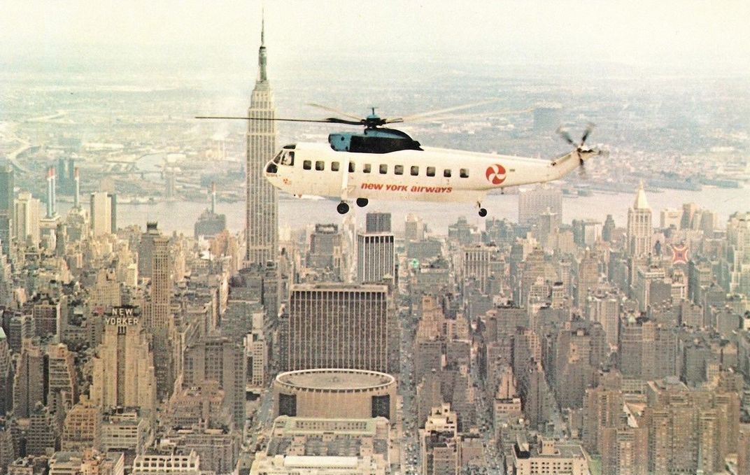 New York Airways promotional postcard 2