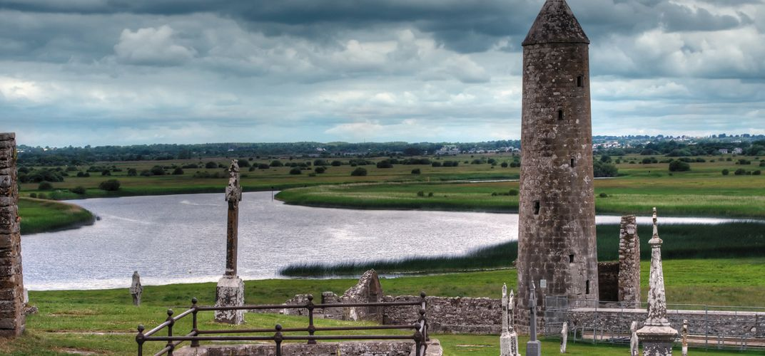 Early monastic site of Clonmacnoise