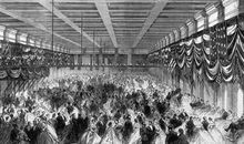 Lincoln's second inaugural ball