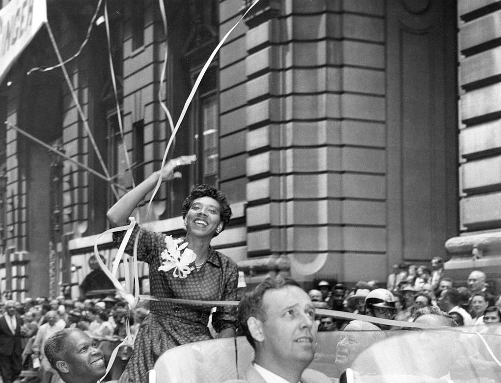 Gibson in Ticker-Tape Parade