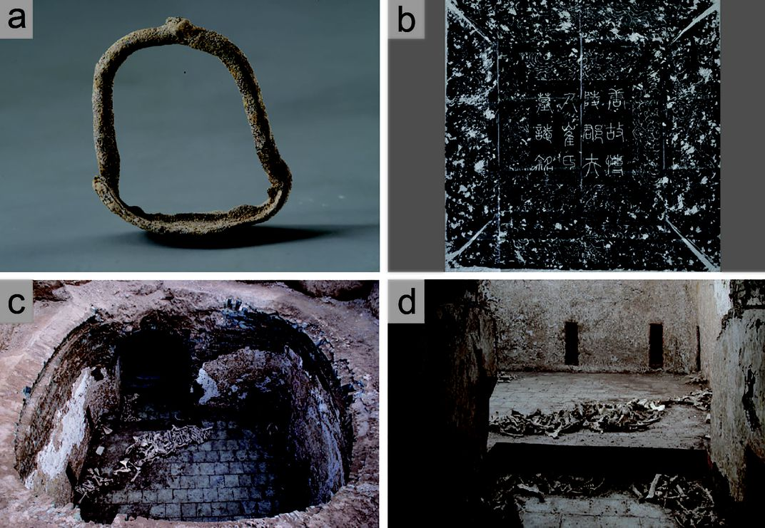 Artifacts from tomb