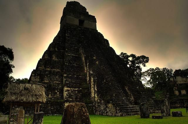 The ancient city of Tikal, located near Lady K'abel's newly discovered tomb.