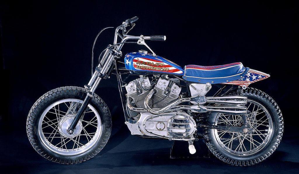 Knievel's famous XR-750 Harley-Davidson, which is expected to go back on view at the National Museum of American History in the near future.