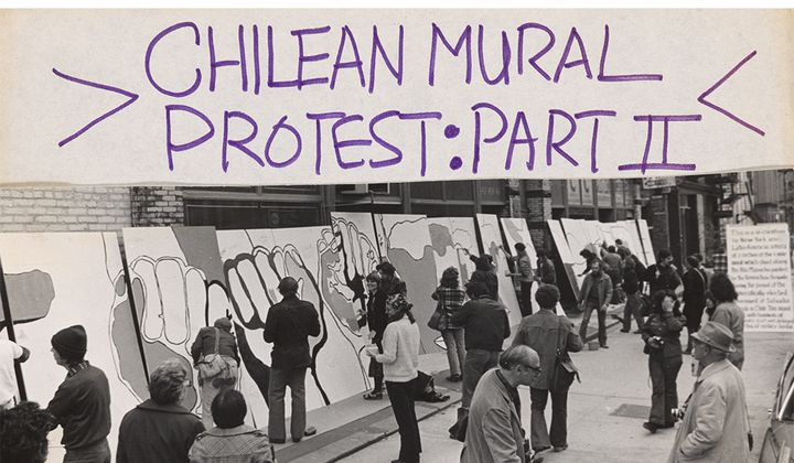 Flyer for Chilean mural protest: part II, not after 1973 October 27 (detail). Lucy R. Lippard papers, 1930s-2010, bulk 1960s-1990. Archives of American Art, Smithsonian Institution.