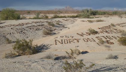 This Desert Is Covered in Rock Graffiti
