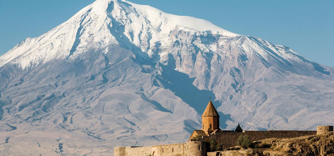 Khor Virap Monastery with the Arat Mountains, Armenia