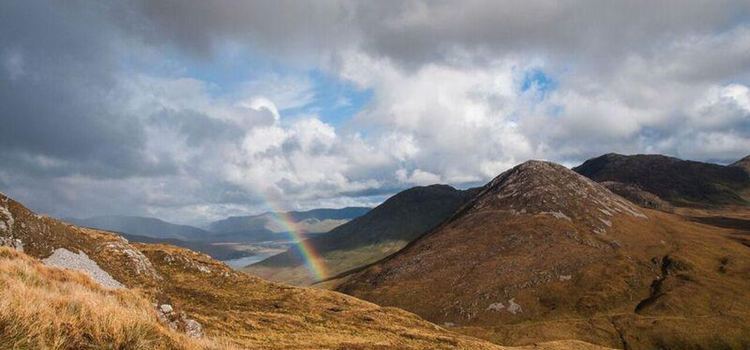 Rainbow in Connemara National Park