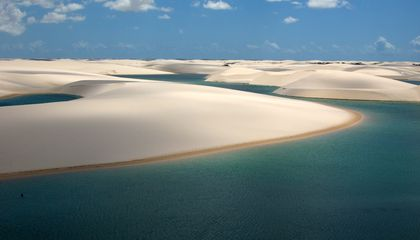 How Do Thousands of Clear Blue Lagoons End Up In These Brazilian Sand Dunes?