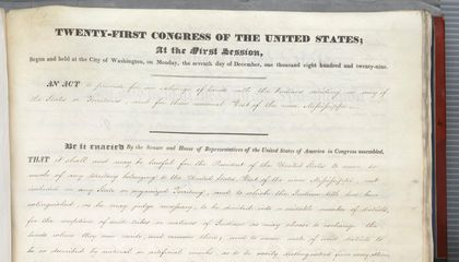 Witness the Document that Set the Trail of Tears in Motion