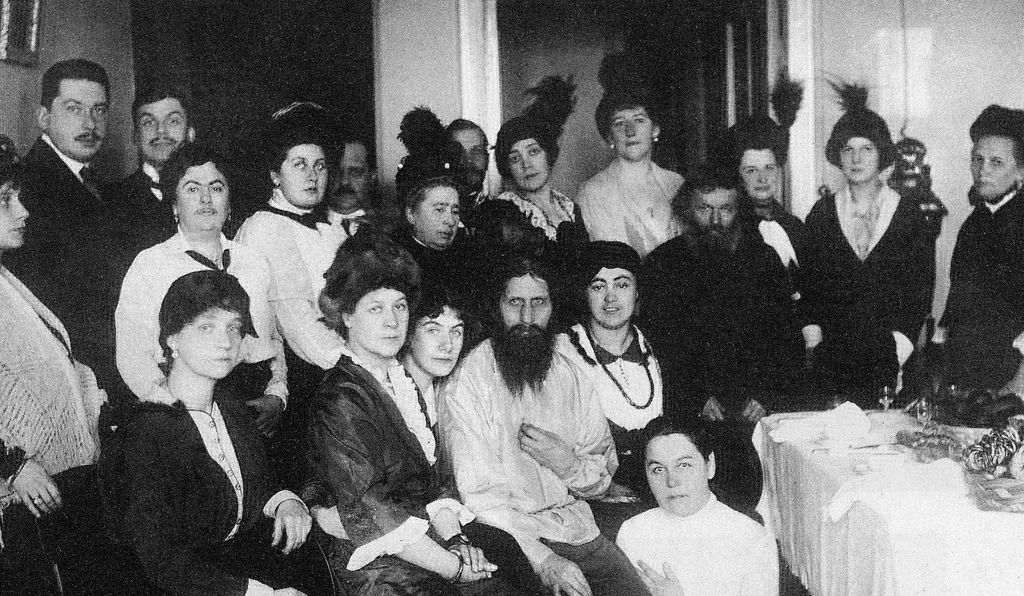 Rasputin with his acolytes