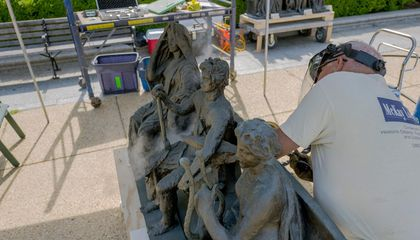 Conservation of a Pair of Saint-Gaudens Goes al Fresco at the Freer