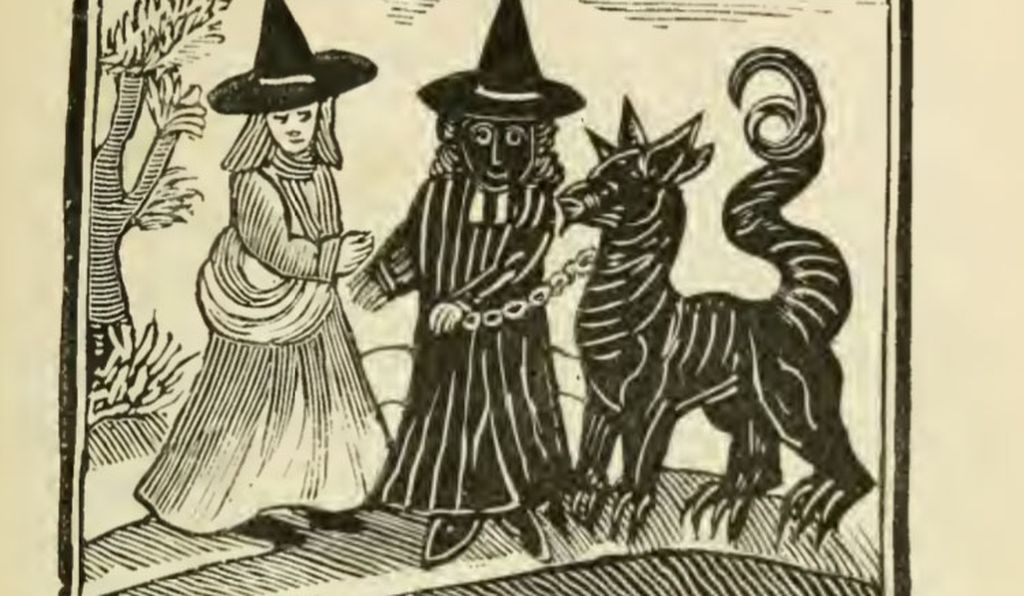 Pointy hat and robe: check. Demonic beast: check.