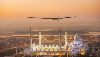 Sun-Powered Airplane Begins Round-The-World Flight