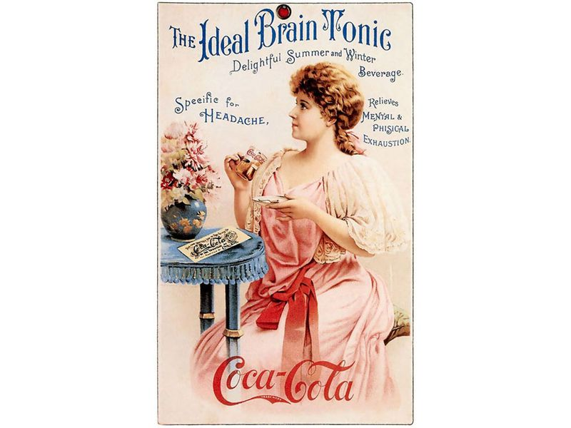7a07868bb9 A vintage ad for Coca Cola from around the late 19th or early 20th century.  (Public domain)