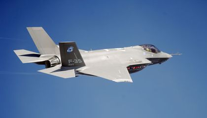 The F-35 makes its second test flight.