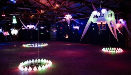 """Shih Chieh Huang's """"The Bright Beneath"""" at the Natural History Museum"""