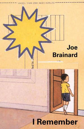 The cover of Joe Brainard's I Remember