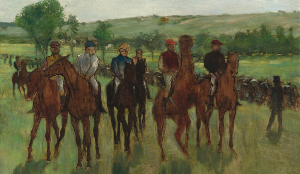 <i>The Riders</i>, c. 1885. Oil on canvas.