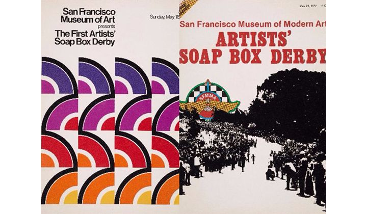 San Francisco Museum of Art program for the first artists' soap box derby, 1975 May 18. Jan Butterfield papers, 1950-1997; Official magazine of the San Francisco Museum of Modern Art artists' soap box derby, 1978 May 21. Jan Butterfield papers, 1950-1997