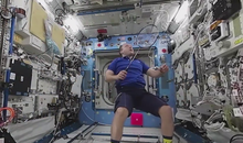 Astronauts Play Zero-G Badminton, Film it In 360