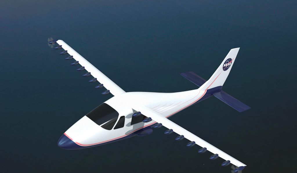 Another NASA concept, for a Distributed Electric Propulsion research aircraft.