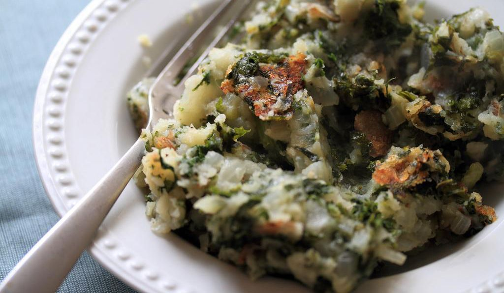 Some colcannon recipes call for kale instead of cabbage.
