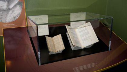 First Edition of Galileo Book on Display