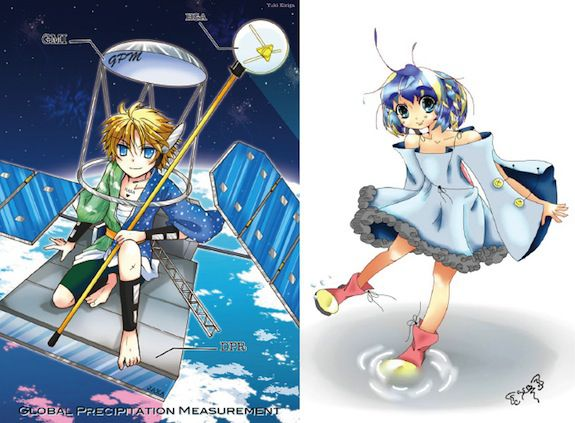 "Left, ""GPM"" by Yuki Kiriga. Right, ""Mizu-chan"" by Sabrynne Buchholz"