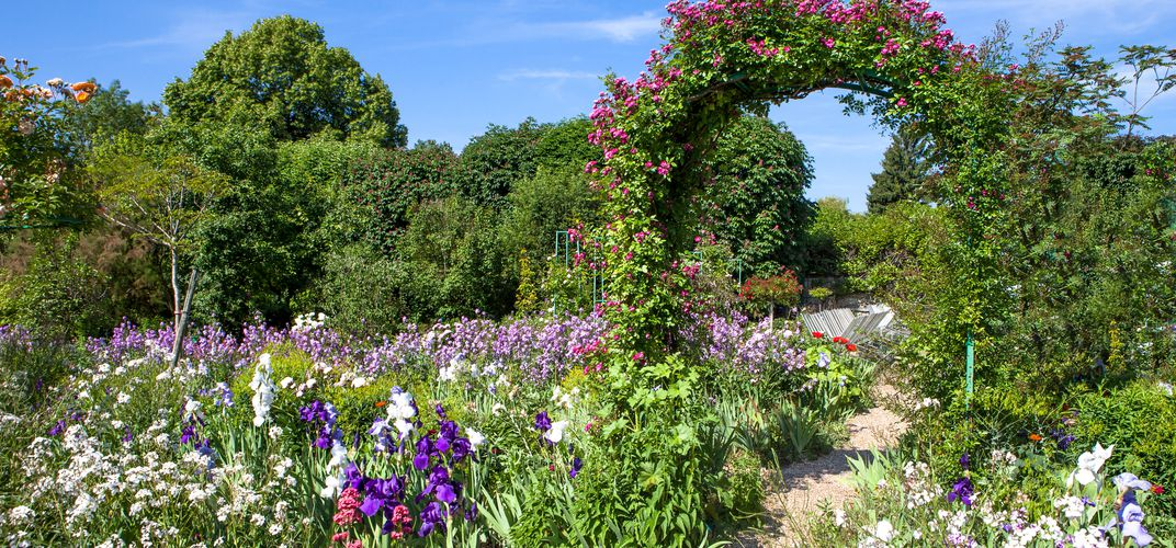 Monet's gardens at Giverny, north of Paris, served as inspiration for many of his Impressionist masterpieces.