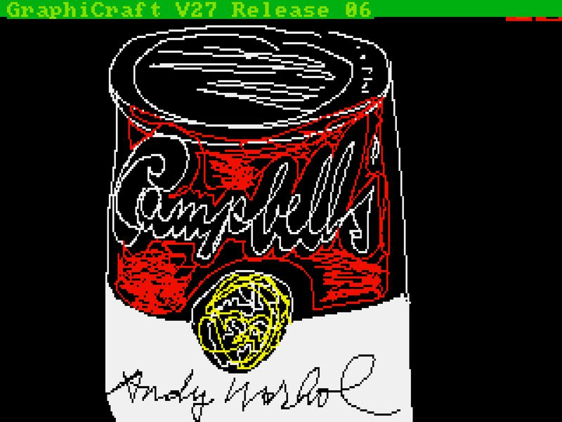 Warhol's Digital Campbell Soup