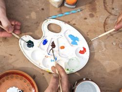 Create your own painted pottery souvenir image