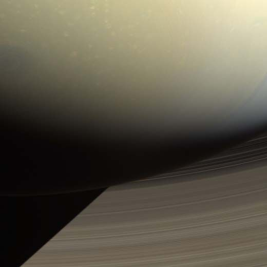 In one of the more ominous images ever taken of Saturn