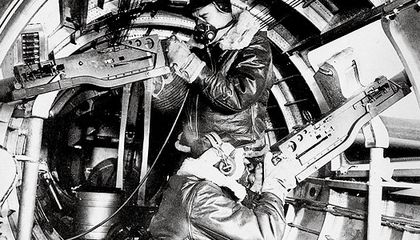 Bundled against temperatures as low as –60° F, aerial gunners struggled to protect their B-17s from German fighters.
