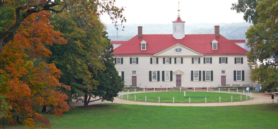 George Washington's Mount Vernon. Credit: Mount Vernon