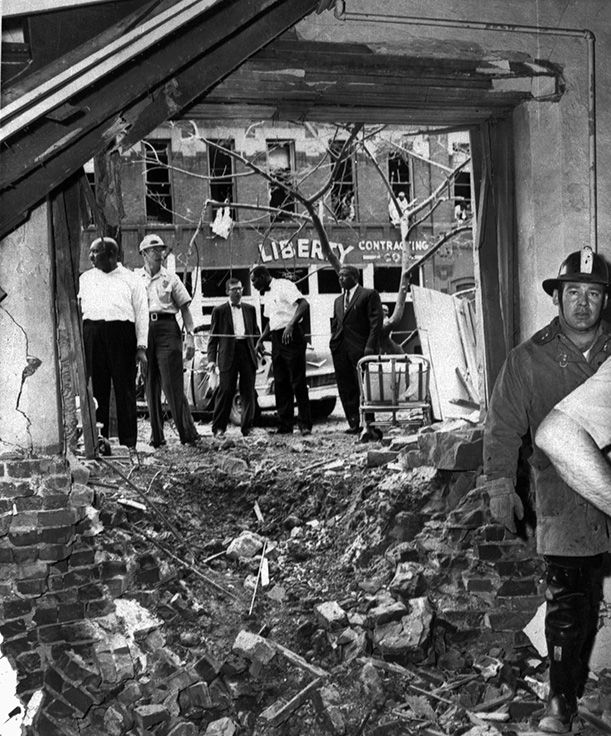The explosion in the Sixteenth Street Baptist Church