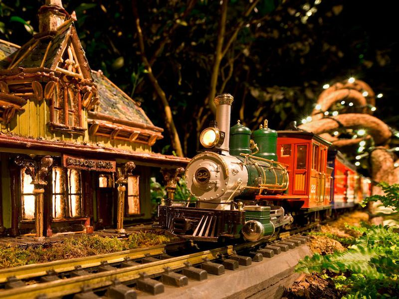 The New York Botanical Garden In City Is Just One Of Many Places Across Country To See Holiday Themed Model Train Shows