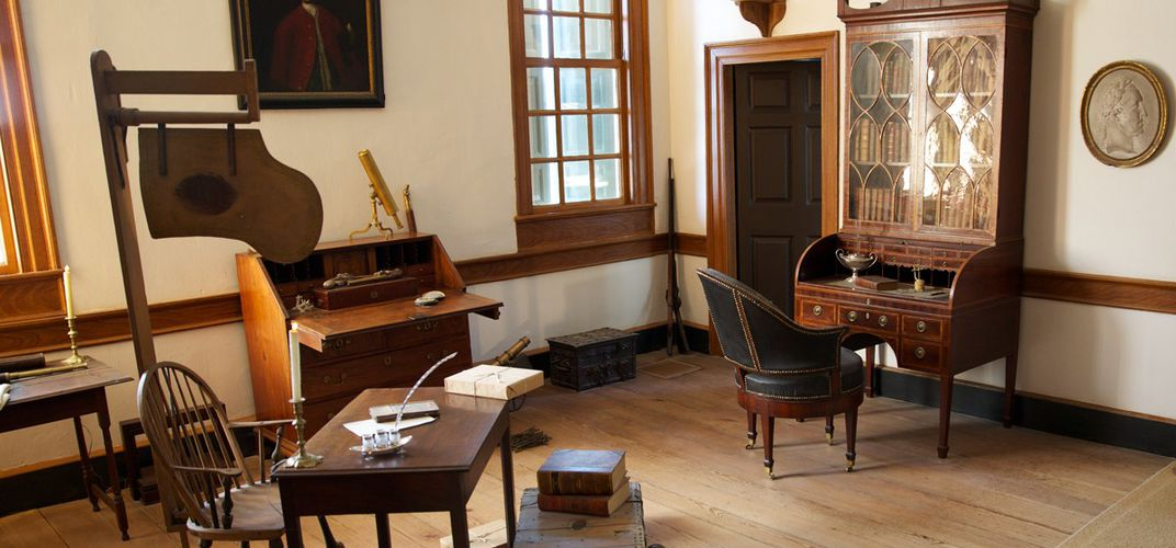 George Washington's study at Mount Vernon. Credit: Mount Vernon
