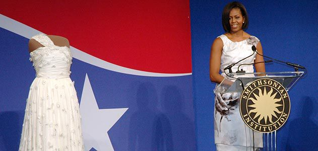 first lady s inaugural gown arrives at smithsonian arts culture