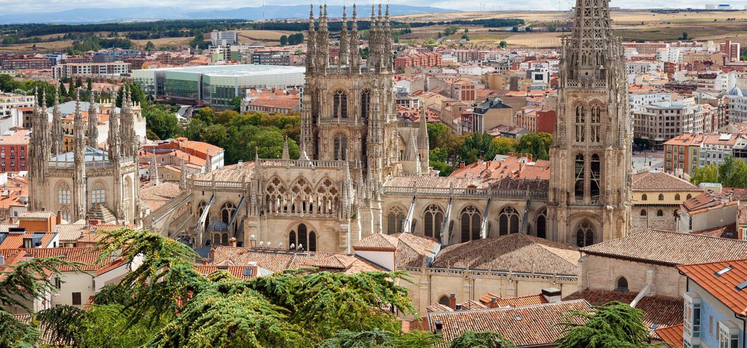 The town of Burgos, along the Camino de Santiago