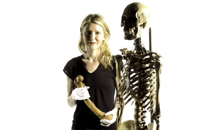 Sabrina Sholts is the curator of biological anthropology at the Smithsonian's National Museum of Natural History. (Paul Fetters, Smithsonian)