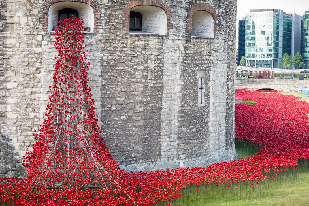 For WWI Anniversary The Tower Of London Has Become Surrounded By - Tower of london river of poppies