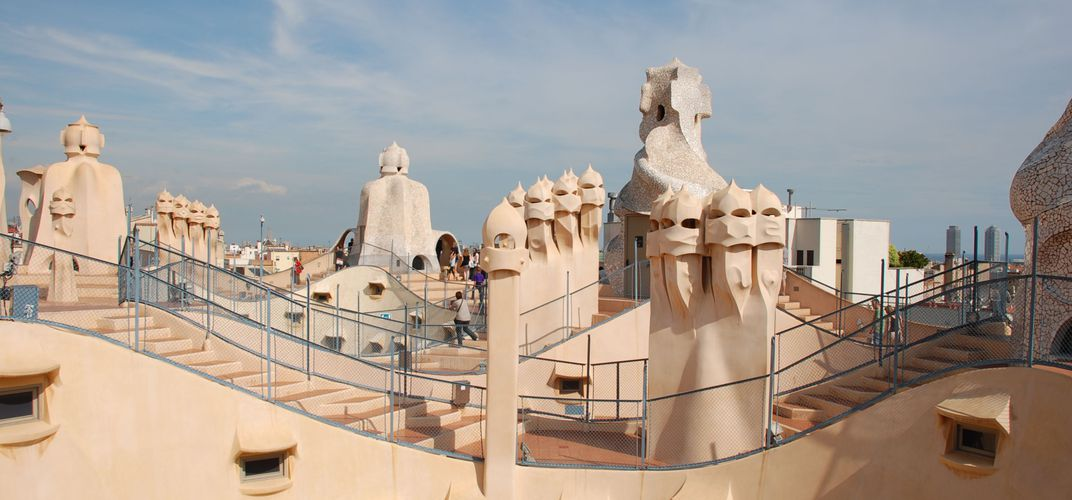 Rooftop of Gaudi's Casa Mila apartment house