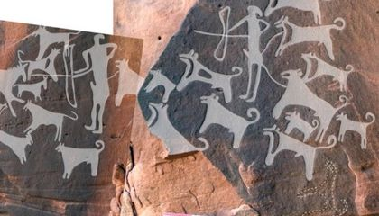 This Rock Art May Be the Earliest Depiction of Dogs
