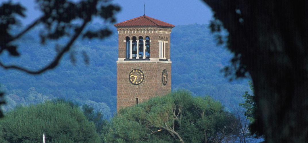 The beloved Chautauqua bell tower. Credit: Bruce Fox