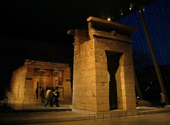 The temple at the Met, in New York City.