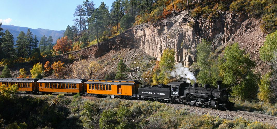 A thrilling ride on the Durango & Silverton. Credit: Durango & Silverton Railway