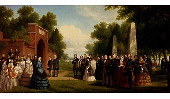 Visit to the Tomb of Washington at Mount Vernon, October 1860, 1861