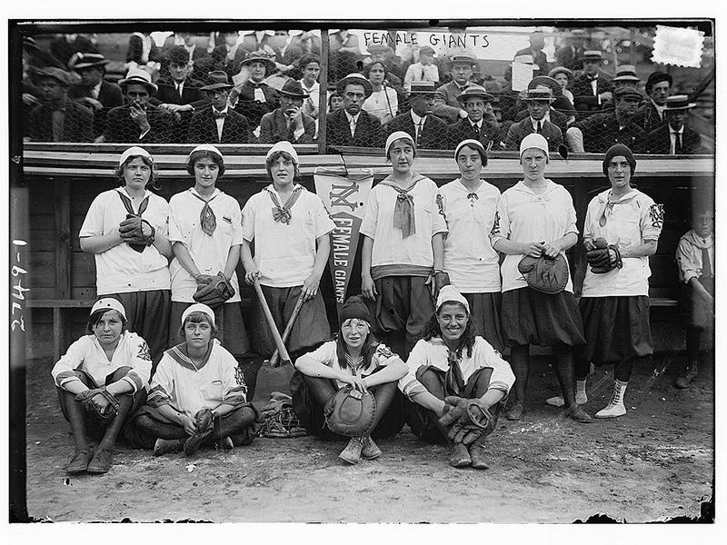 Amateur women's baseball teams existed as early as 1866