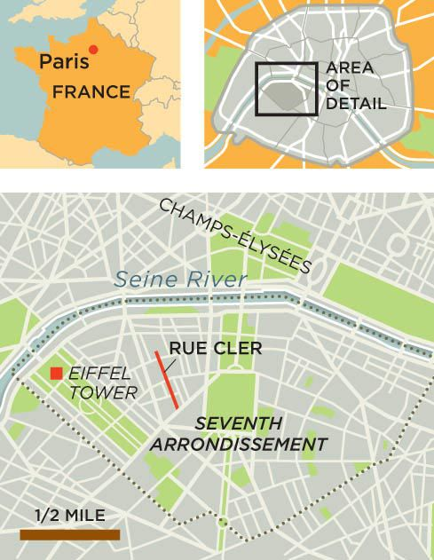 Rue Cler Paris France map